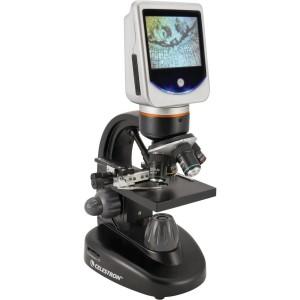 Ett digital mikroskop från Celestron med inbyggd bildskärm.