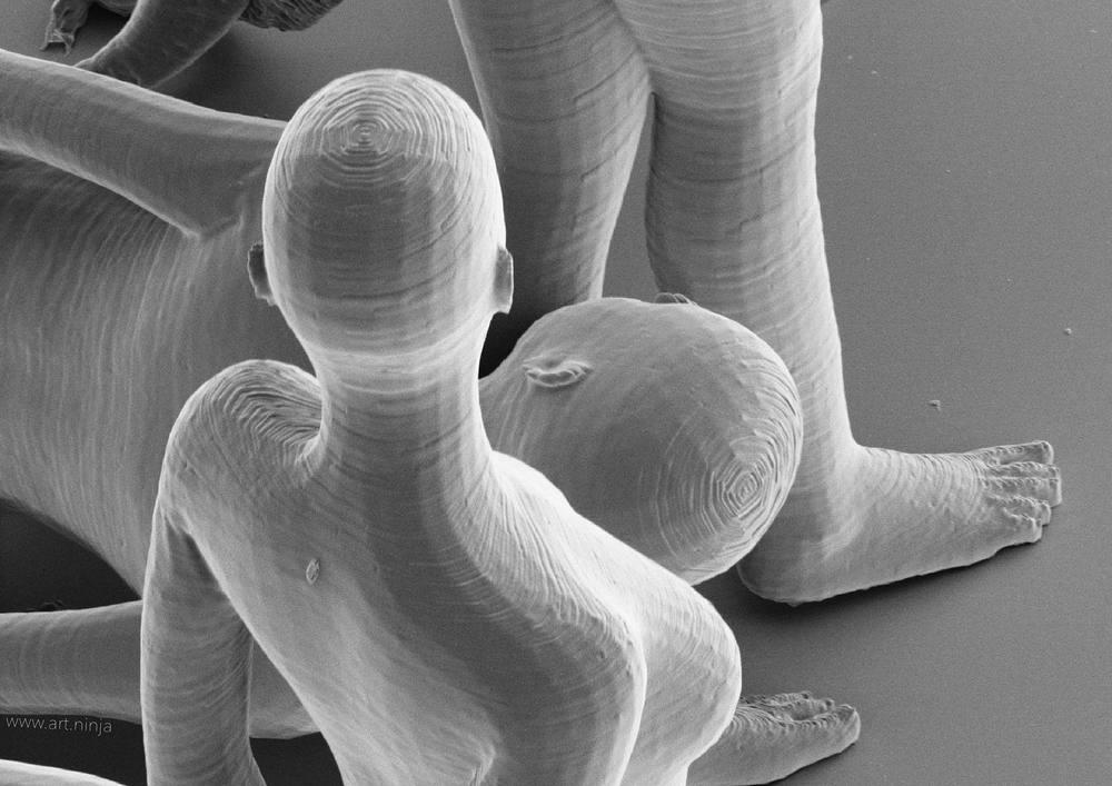 Detaljrikedomen på en nanoskulptur är förbluffande.