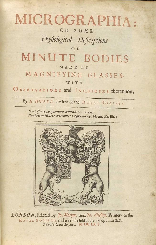 Micrographia av Robert Hooke