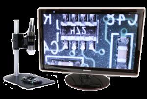Höghastighetsbildtagning i realtid med direkt TV- och VGA-anslutning.