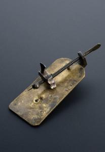 Leeuwenhoeks mikroskop (replika).